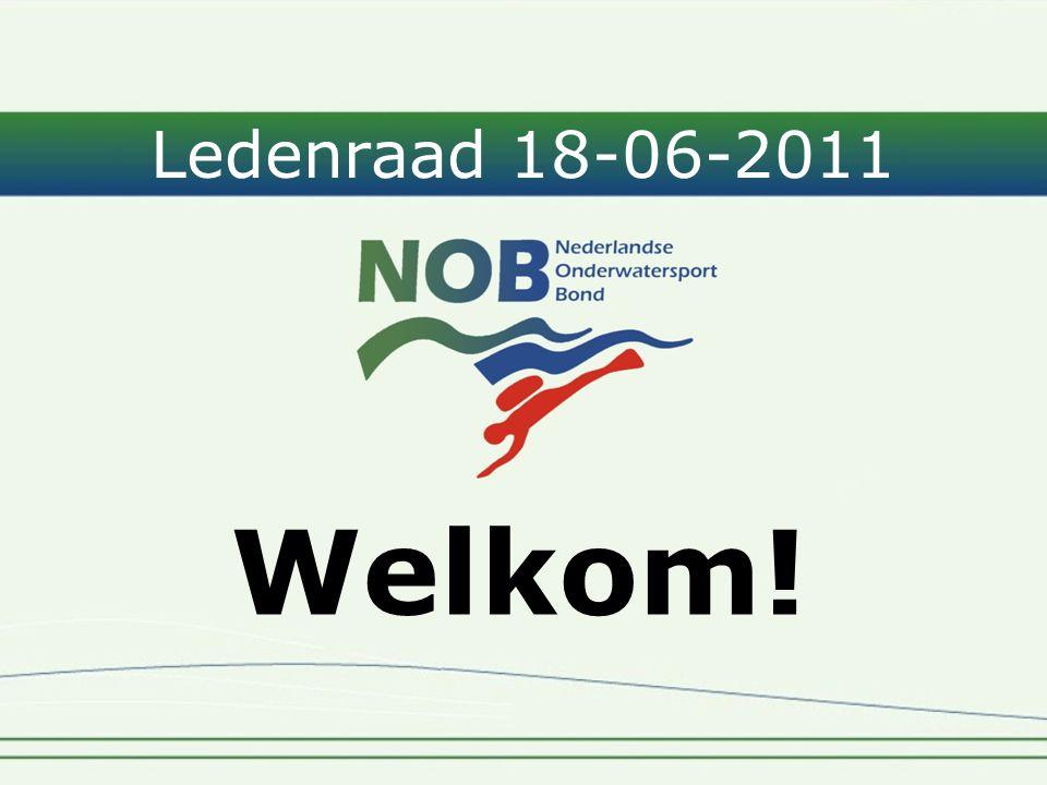 Ledenraad 18-06-2011 Welkom!