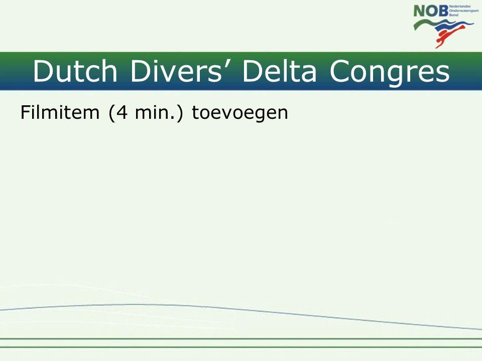 Dutch Divers' Delta Congres Filmitem (4 min.) toevoegen