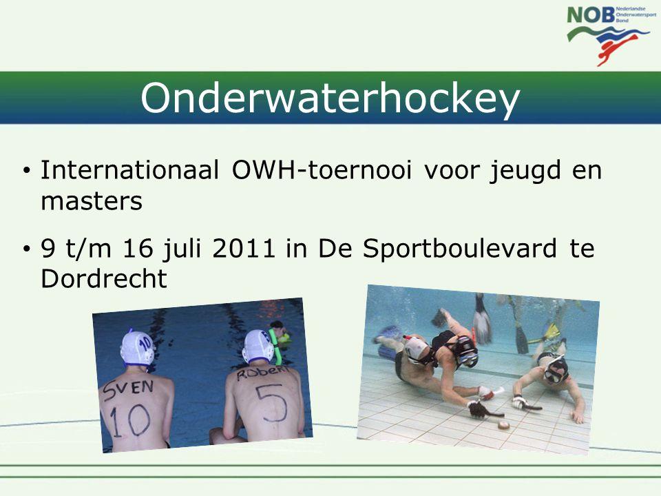 Onderwaterhockey • Internationaal OWH-toernooi voor jeugd en masters • 9 t/m 16 juli 2011 in De Sportboulevard te Dordrecht
