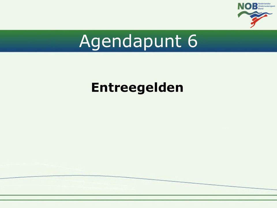 Agendapunt 6 Entreegelden