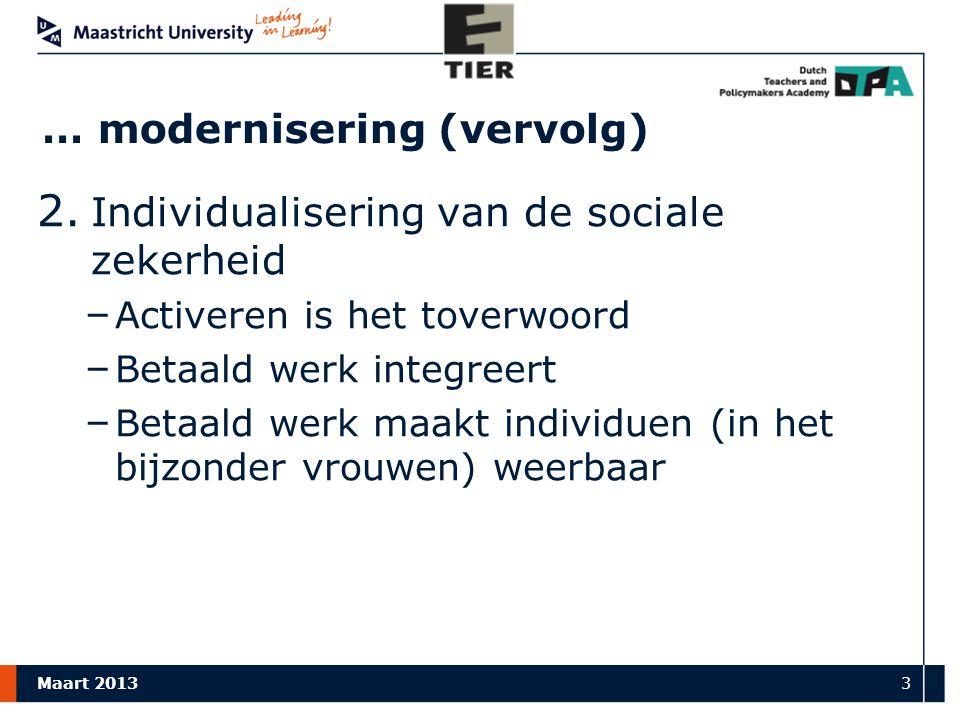 Maart 2013 3 … modernisering (vervolg) 2.