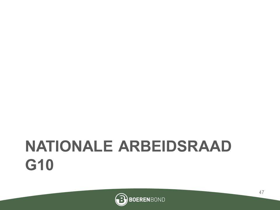 NATIONALE ARBEIDSRAAD G10 47