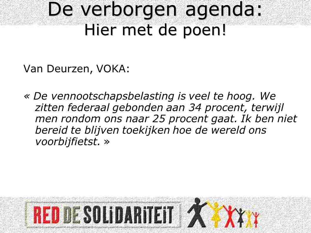 Van Deurzen, VOKA: « De vennootschapsbelasting is veel te hoog.