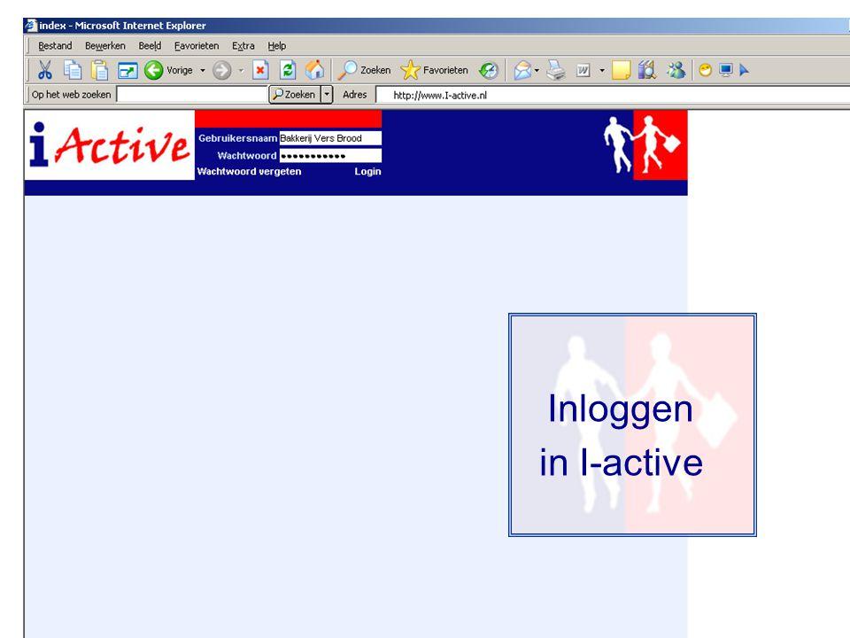 Inloggen in I-active
