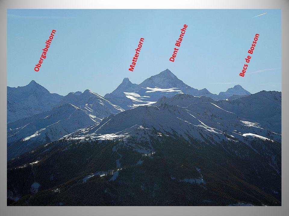 Matterhorn Dent Blanche Becs de Bosson Obergabelhorn