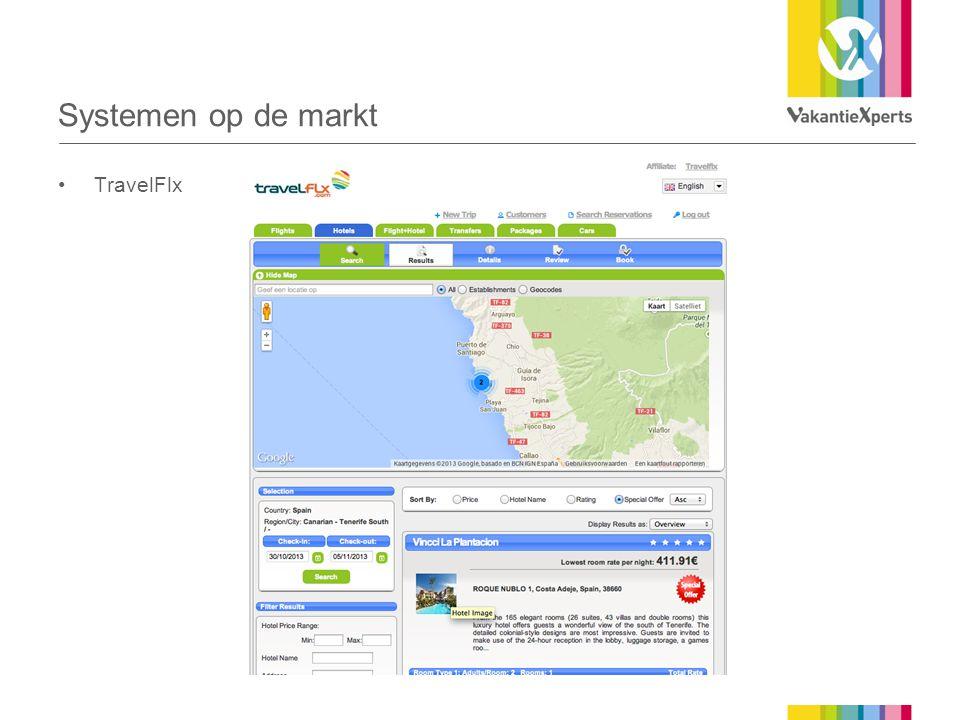 Systemen op de markt •TravelFlx