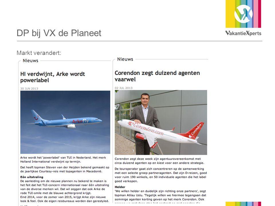 DP bij VX de Planeet Markt verandert: