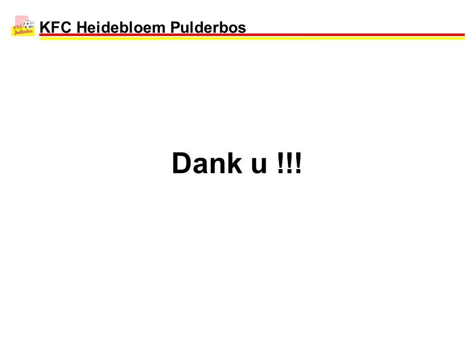 KFC Heidebloem Pulderbos Dank u !!!