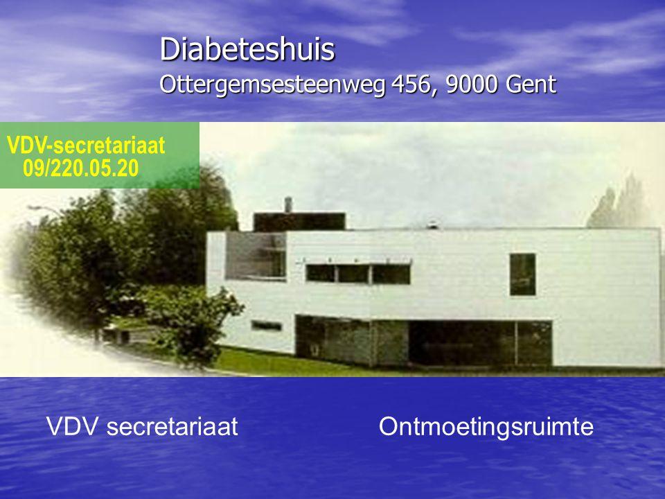Diabeteshuis Ottergemsesteenweg 456, 9000 Gent VDV-secretariaat 09/220.05.20 VDV secretariaat Ontmoetingsruimte