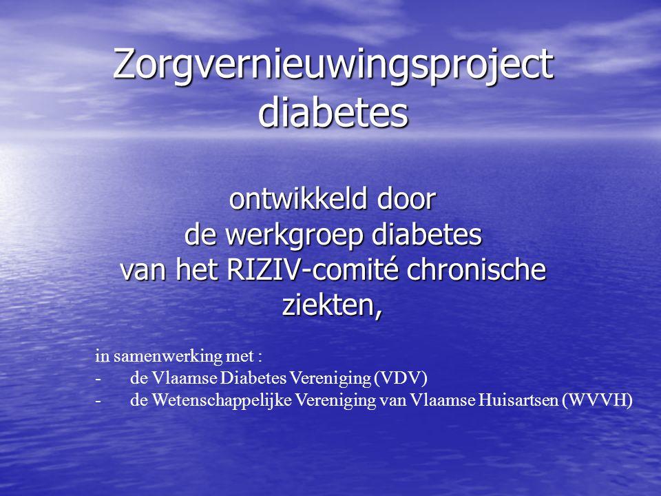 ontwikkeld door de werkgroep diabetes van het RIZIV-comité chronische ziekten, Zorgvernieuwingsproject diabetes in samenwerking met : -de Vlaamse Diab