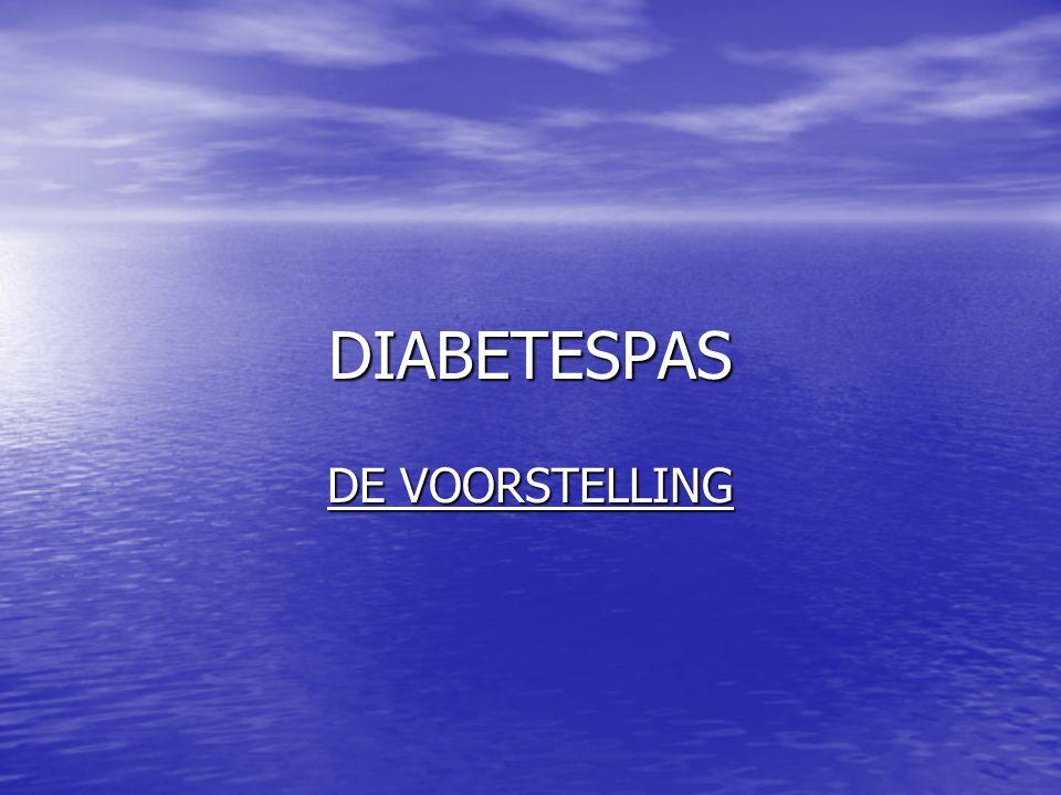 DIABETESPAS DE VOORSTELLING