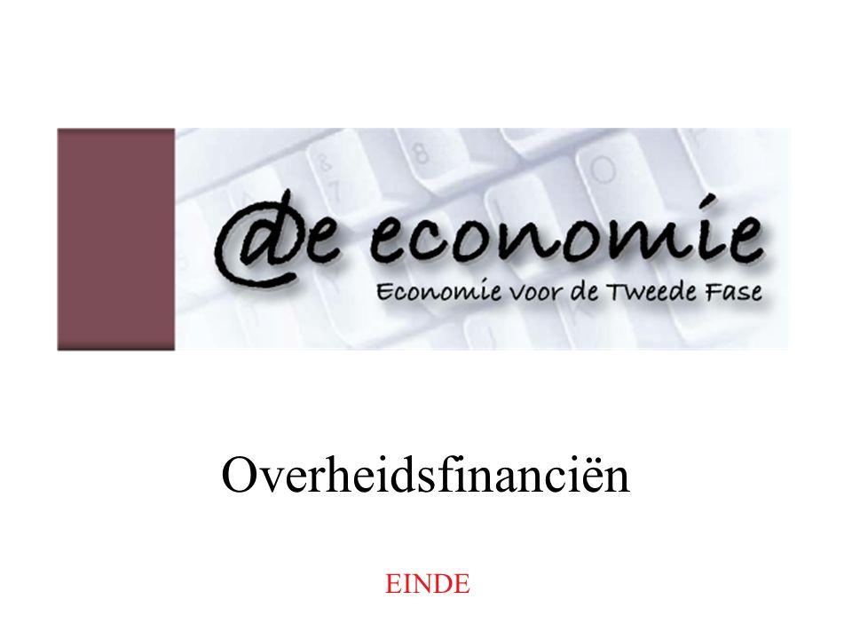Overheidsfinanciën EINDE