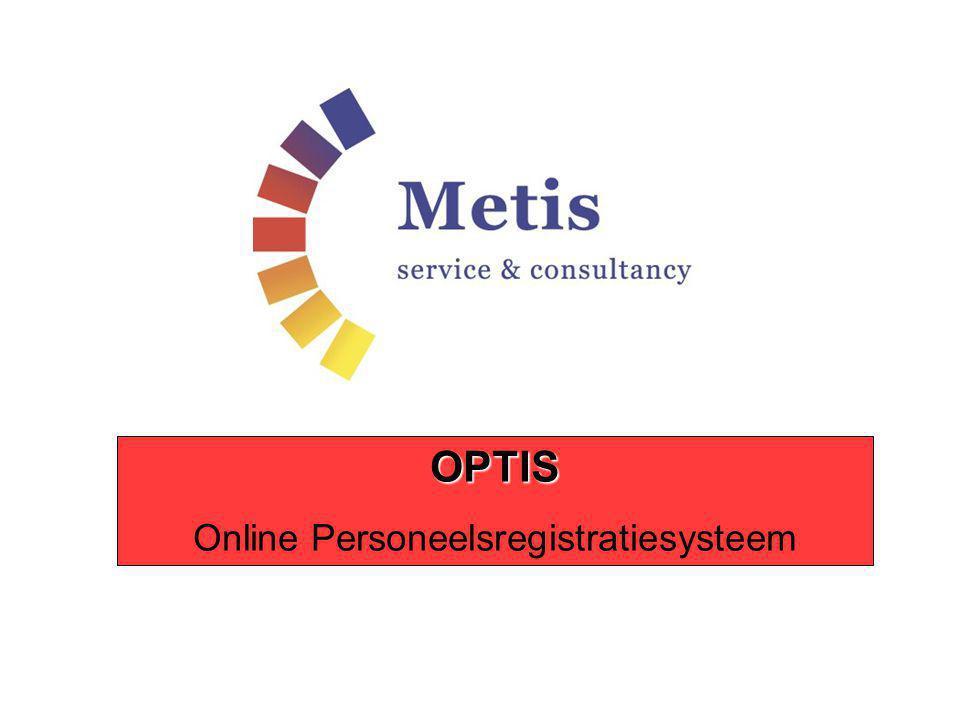 OPTIS Online Personeelsregistratiesysteem
