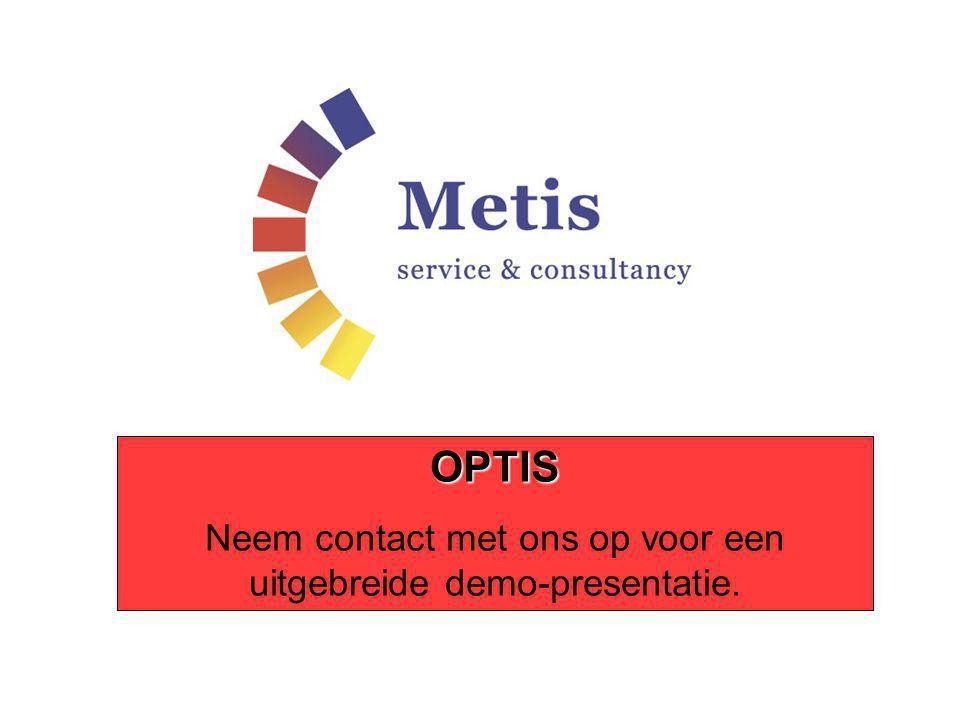 OPTIS Neem contact met ons op voor een uitgebreide demo-presentatie.