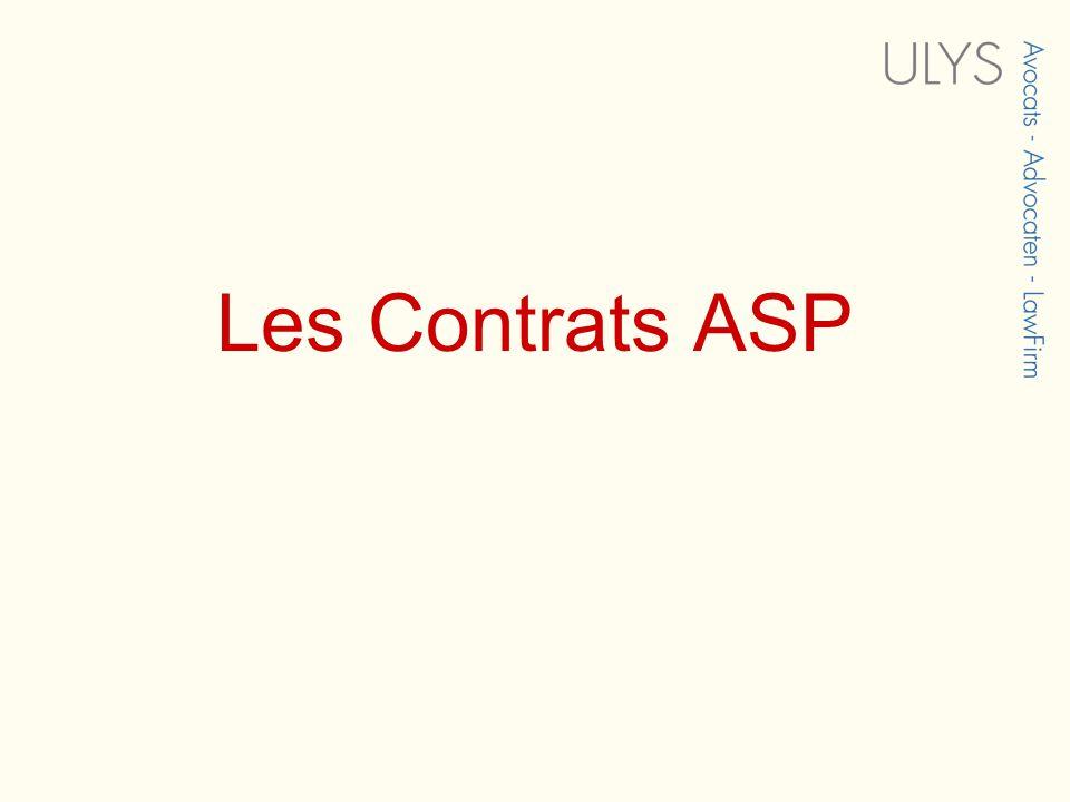 Les Contrats ASP