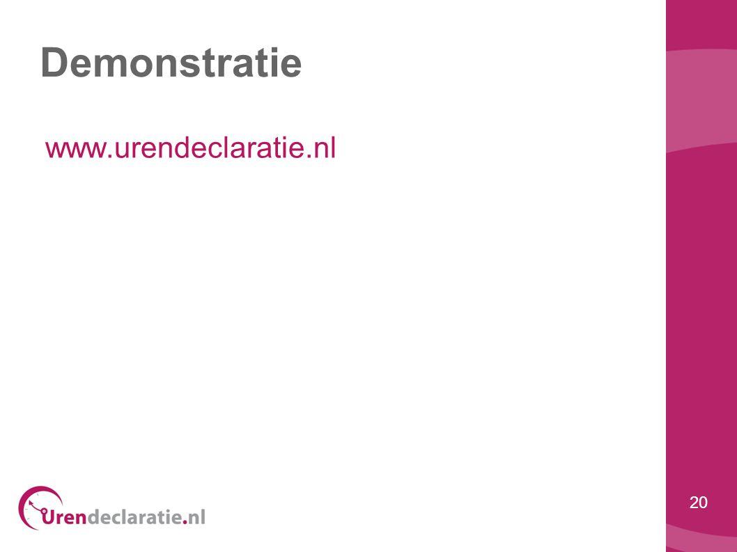 20 Demonstratie www.urendeclaratie.nl