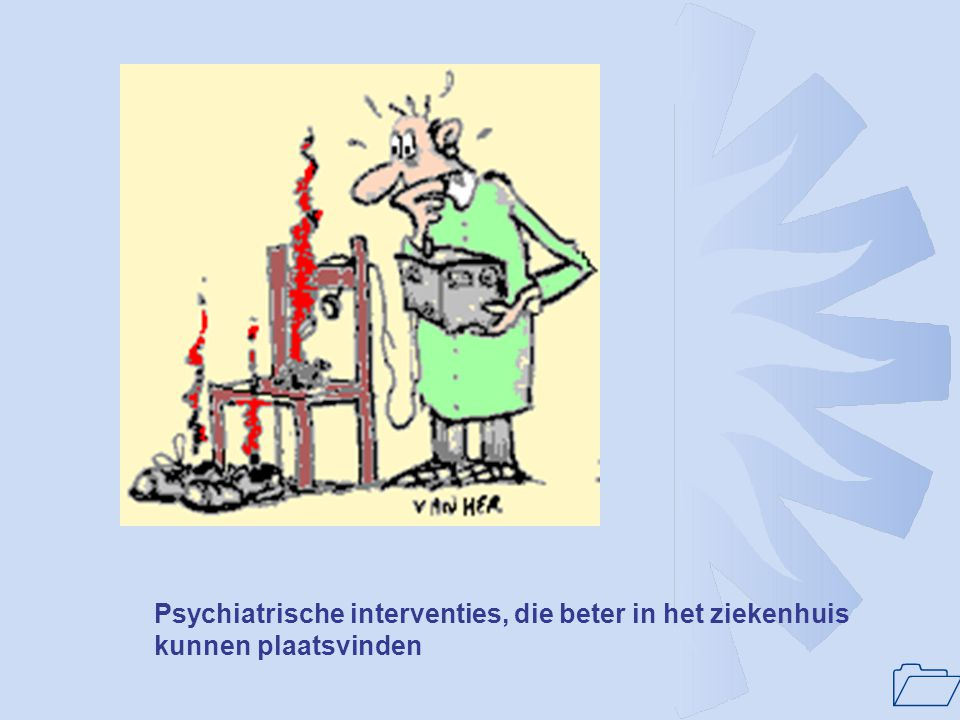 1 Welke selecte groep patienten? •patiënten met psychiatrische en somatische co-morbiditeit •patiënten die complexe zorg behoeven •patiënten die multi