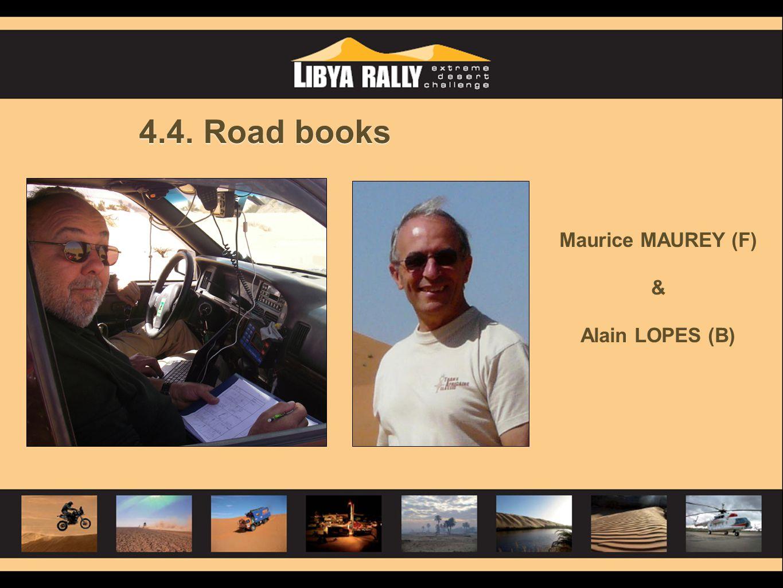 4.4. Road books Maurice MAUREY (F) & Alain LOPES (B)