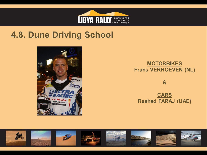 4.8. Dune Driving School MOTORBIKES Frans VERHOEVEN (NL) & CARS Rashad FARAJ (UAE)