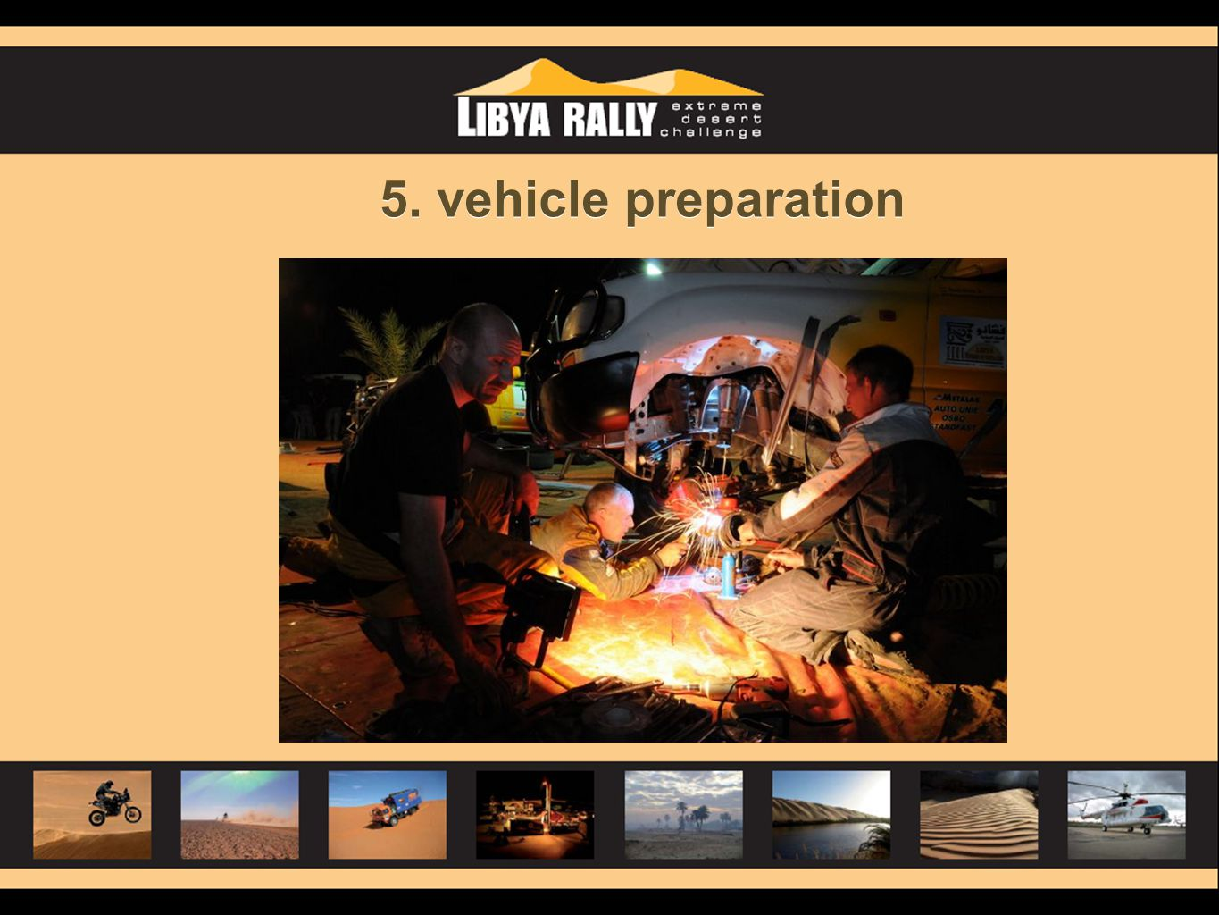 5. vehicle preparation
