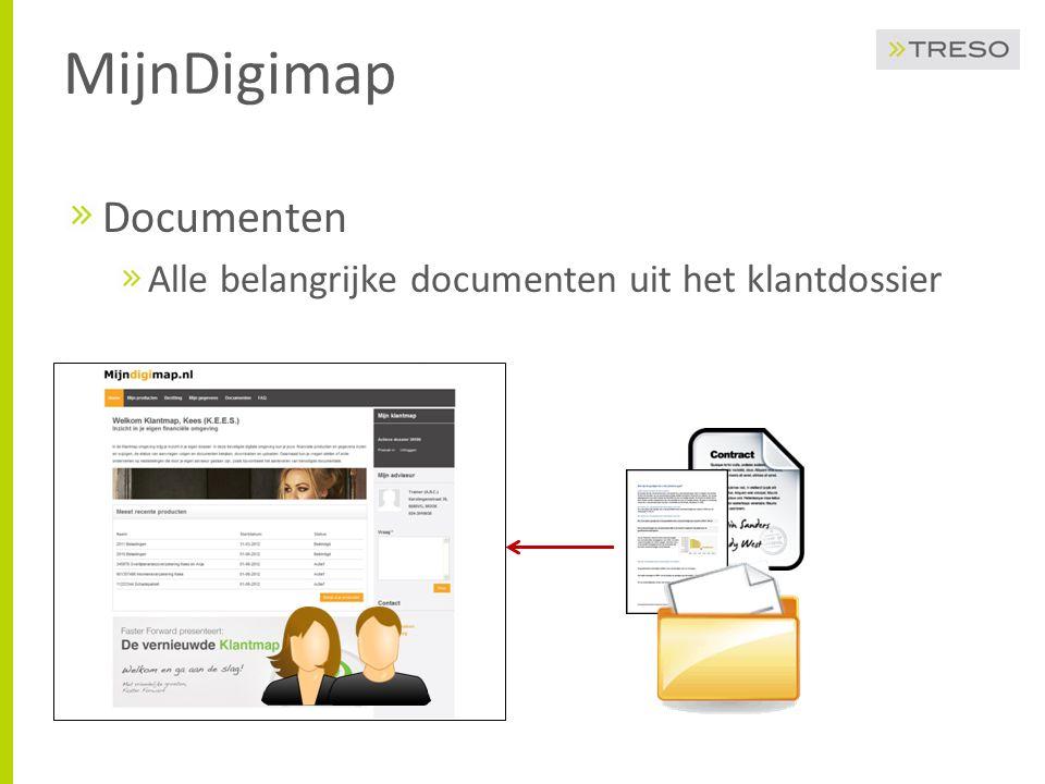 MijnDigimap Documenten Alle belangrijke documenten uit het klantdossier