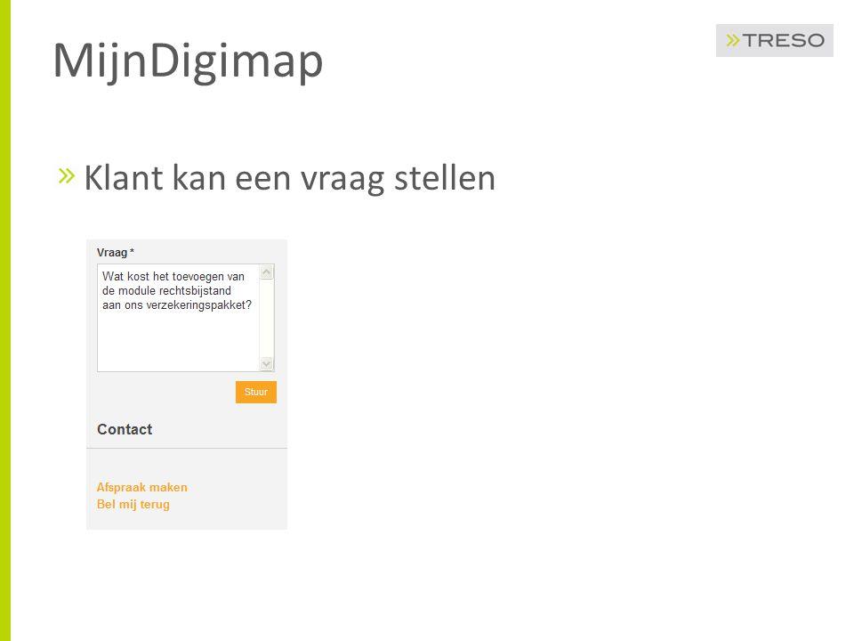MijnDigimap Klant kan een vraag stellen
