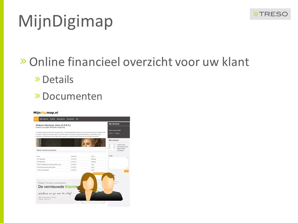 MijnDigimap Koppeling met Elements Producten met details Documenten