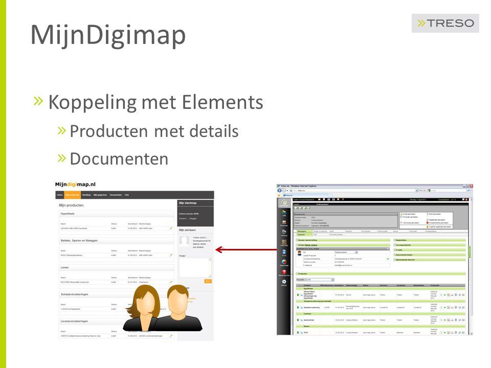MijnDigimap U selecteert de onderdelen voor MijnDigimap Welke producten, diensten en servicecontracten Welke documenten