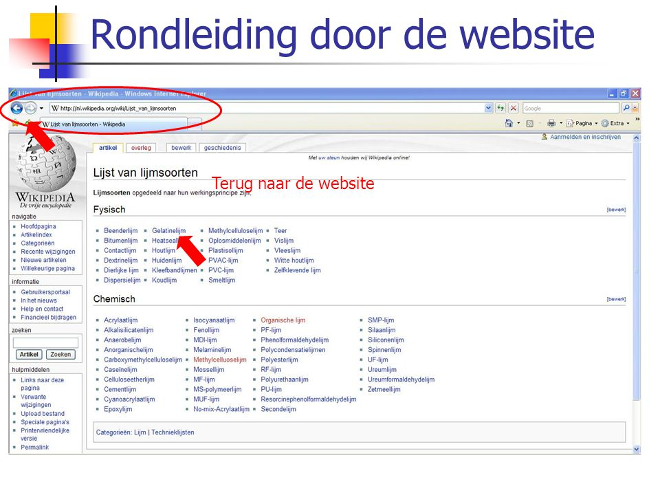 De Adobe-zoekfunctie Open het programma Adobe Reader Open de search-functie => Er opent een nieuw scherm