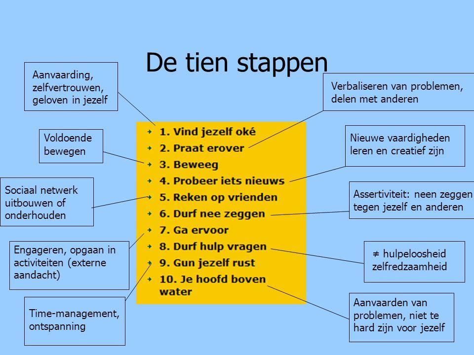 De 10 stappen Bij elke stap vind je: -Het waarom en hoe van de stap -Opdrachten -Verhalen -Links naar interessante websites -Randanimatie