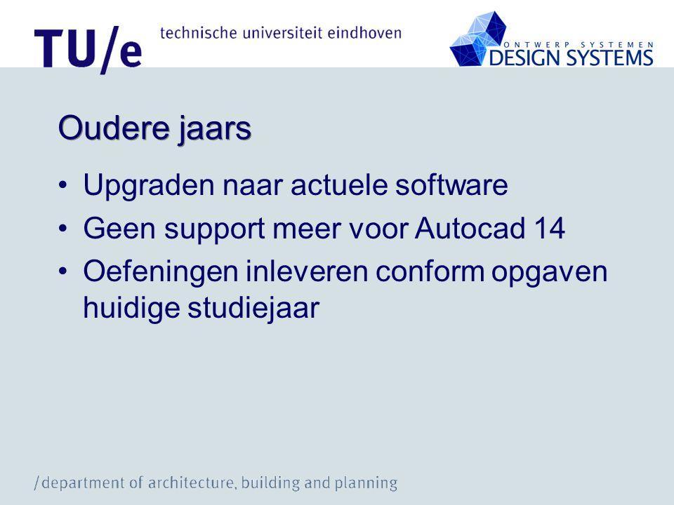 Support CAD-college + Instructie •Niet via E-mail naar docenten •E-mail:bwos01@tue.nl •Tutorials: zie website van college.