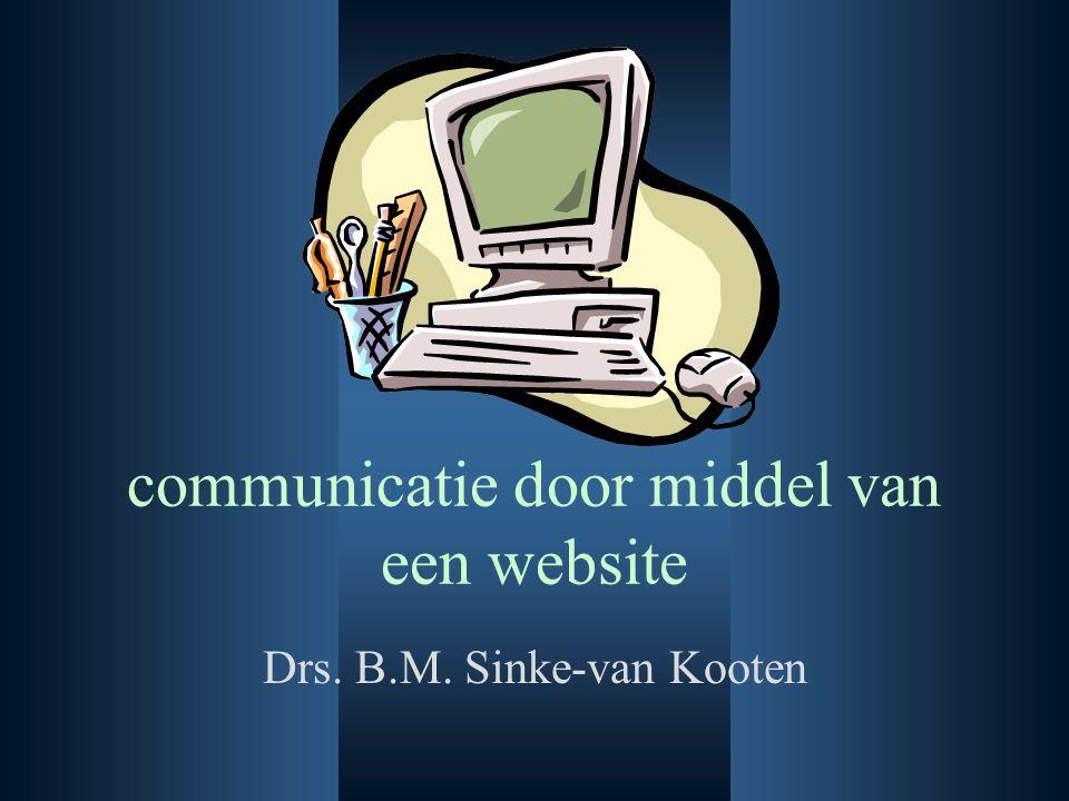 communicatie door middel van een website Drs. B.M. Sinke-van Kooten