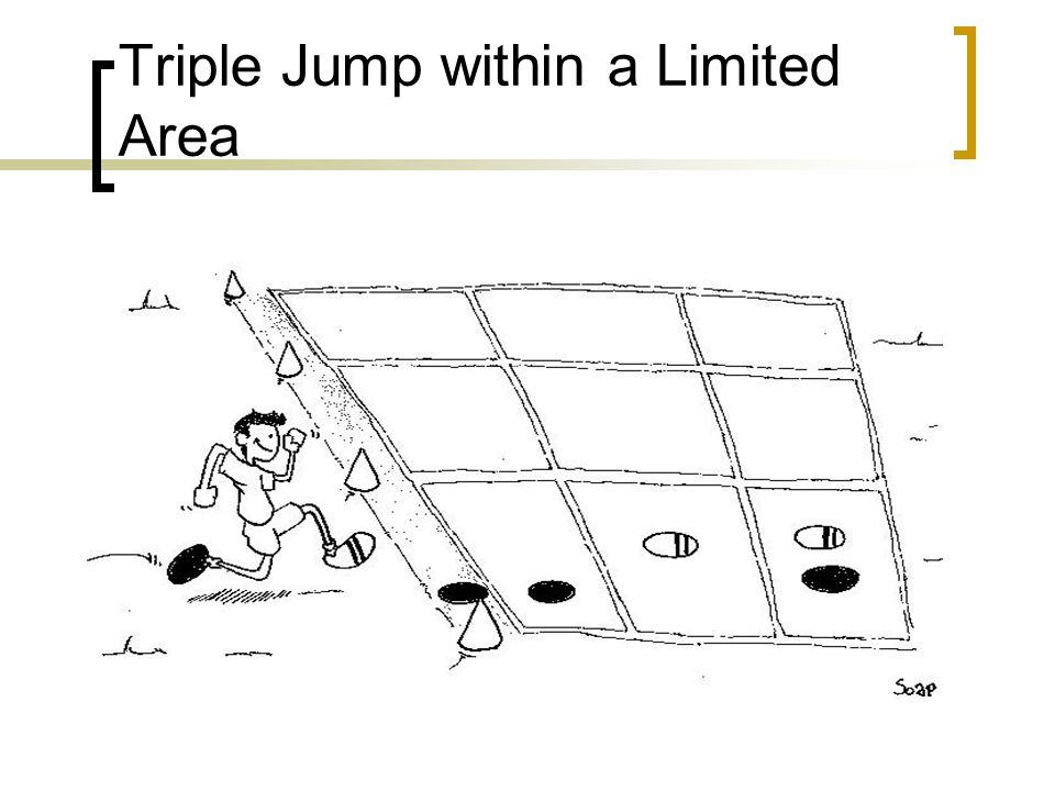 Triple Jump within a Limited Area
