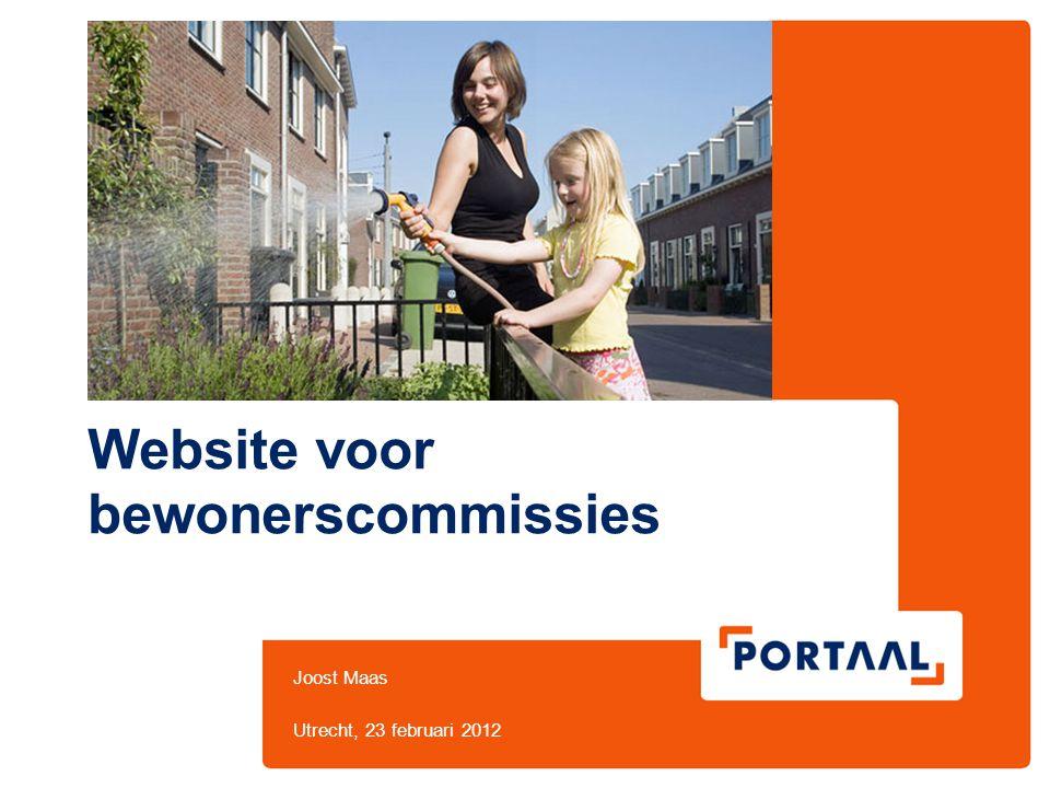 Website voor bewonerscommissies Joost Maas Utrecht, 23 februari 2012