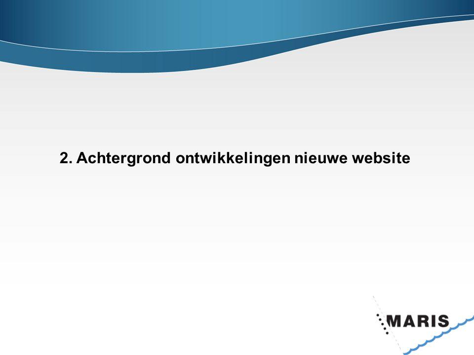 2. Achtergrond ontwikkelingen nieuwe website