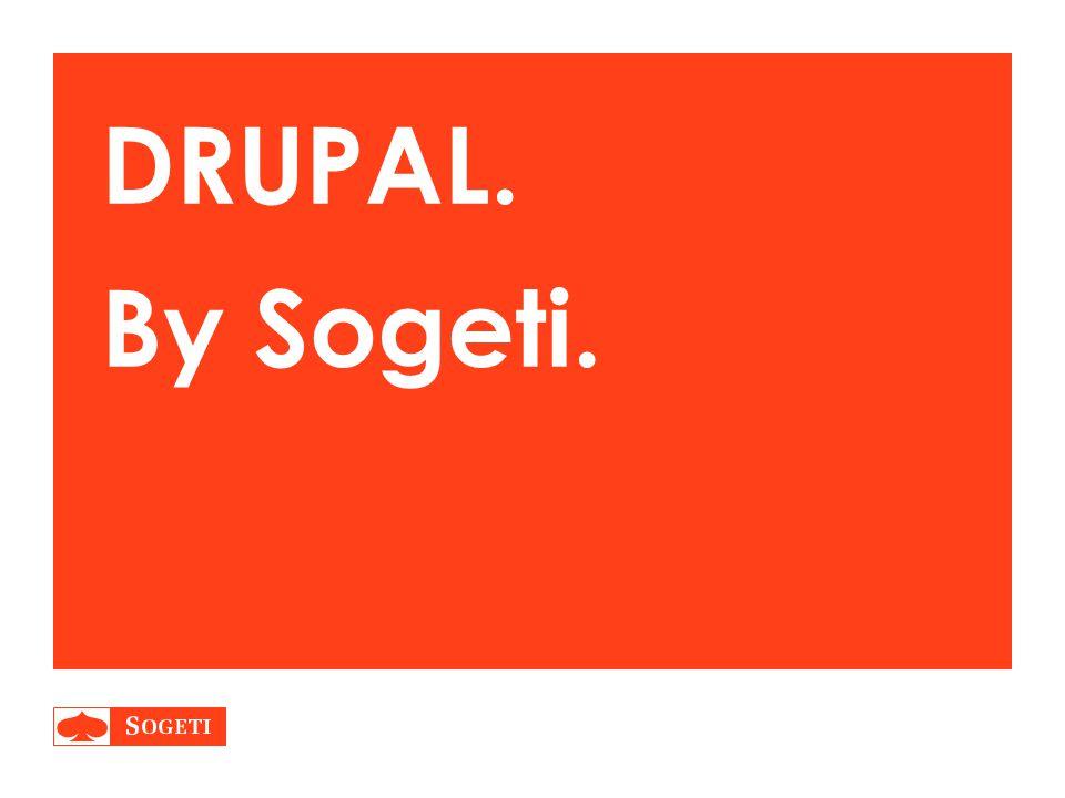 DRUPAL. By Sogeti.