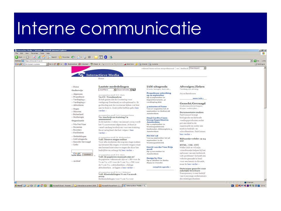 Interne communicatie