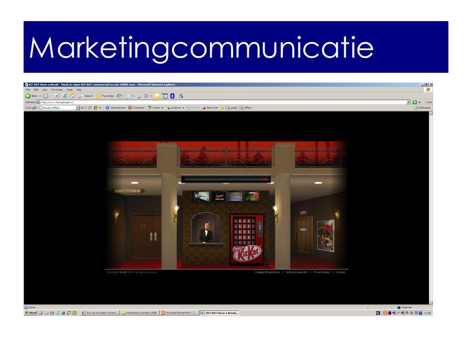 marketingcommunicatie Marketingcommunicatie