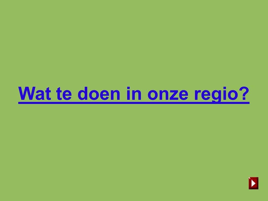 Wat te doen in onze regio?