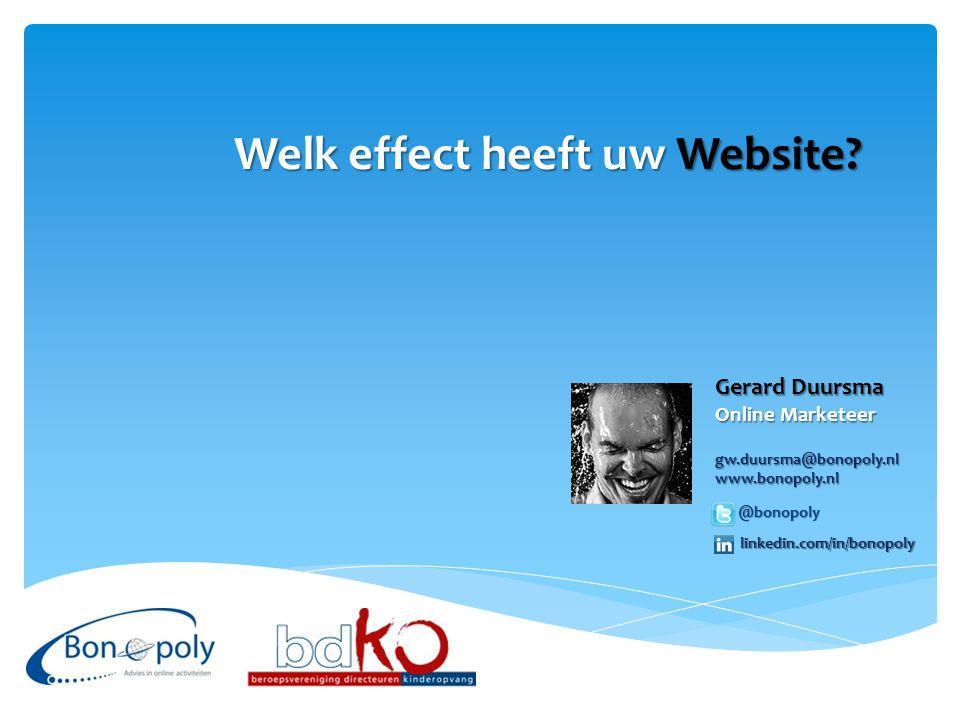 Welk effect heeft uw Website.
