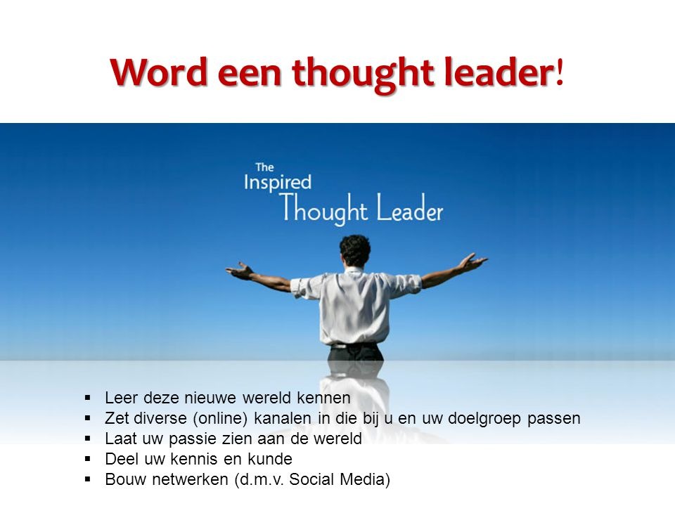 Word een thought leader Word een thought leader.