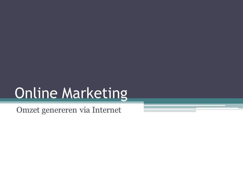 Online Marketing Omzet genereren via Internet