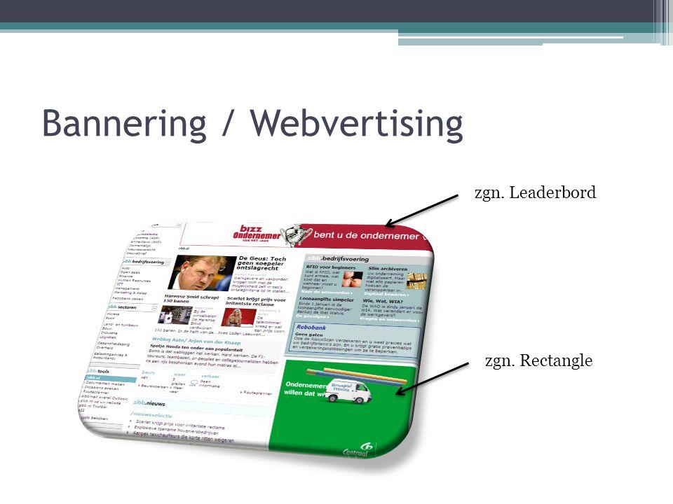 Bannering / Webvertising zgn. Leaderbord zgn. Rectangle
