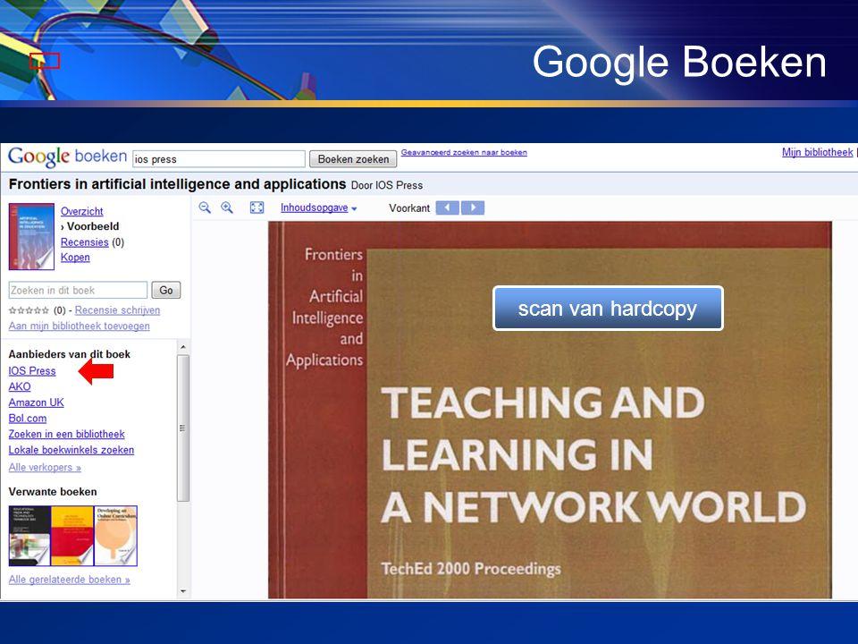 Google Boeken scan van hardcopy