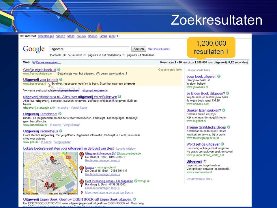 Zoekresultaten 1,200,000 resultaten !
