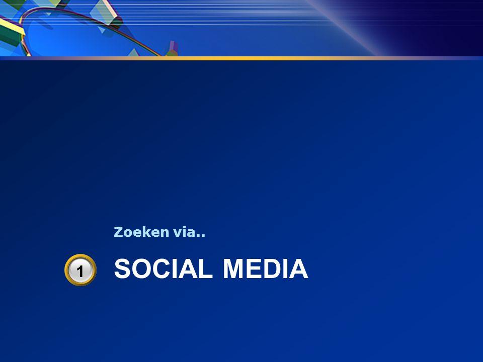 SOCIAL MEDIA Zoeken via.. 3 1