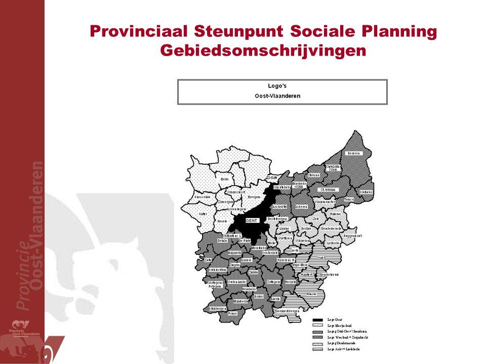 Provinciaal Steunpunt Sociale Planning Gebiedsomschrijvingen