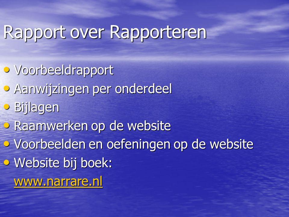 Raamwerken • Voor Word • In drie talen • Tips via opmerkingentekst • Juiste onderdelen • Juiste volgorde • Juiste marges • Juiste aginanummering • Zie www.narrare.nl www.narrare.nl