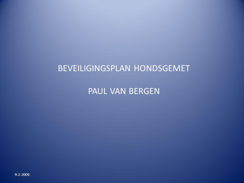 BEVEILIGINGSPLAN HONDSGEMET PAUL VAN BERGEN