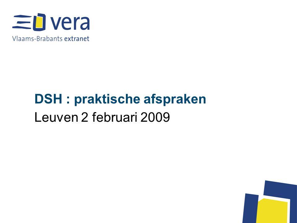 DSH : praktische afspraken Leuven 2 februari 2009